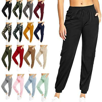 £8.99 • Buy New Womens Ladies Elasticated High Waist Cargo Trousers Gym Jogging Combat Pants