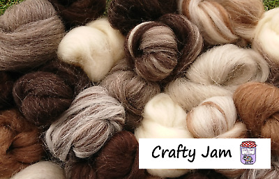 £2.45 • Buy Needle/Wet Felting Natural Wool, Roving 20-500 G Ideal For Animal Projects