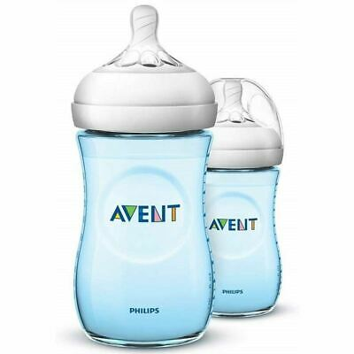 AU32.11 • Buy Philips Avent Natural Baby Bottles 260ml (Blue Twin Pack)