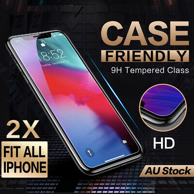 AU3.95 • Buy 2X Apple IPhone 11 Pro Xs Max XR 8 7 6S Plus Screen Protector 9H Tempered Glass