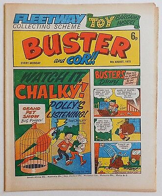 BUSTER And COR Comic - 9th August 1975 • 2.99£