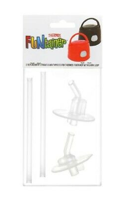 AU12.95 • Buy Thermos Funtainer Spare Straws & Mouthpiece 2PK