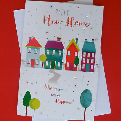 New Home Greeting Card House Keys Balloons Moving In Modern FREE P&P • 2.25£