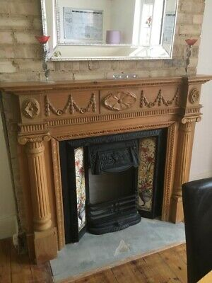 Victorian Style Fireplace - Oak Surround - Great Condition • 450£