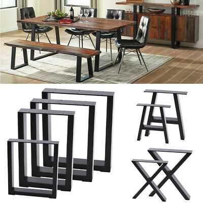 Pair Industrial Table Legs Strong Metal For Table/Desk/Bench/Chair/Cabinet DIY • 69.95£