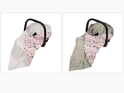 £18.99 • Buy New Girls Pink Galaxy Stars Baby Wrap For Car Seat / Car Seat Blanket / Cosytoes