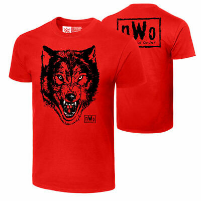 £29.99 • Buy Official WWE - NWO New World Order  Wolfpac Wolf  Black & Red Retro T-Shirt