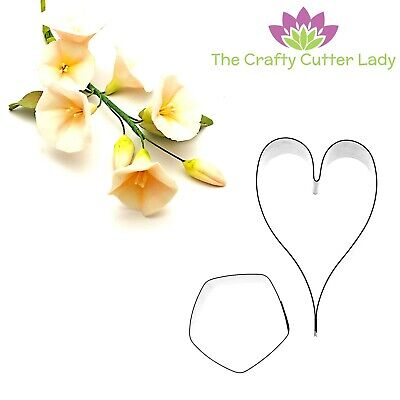 Bindweed Flower Cutter And Leaf Cutter Set For Sugarcraft And Cake Decoration  • 6.50£