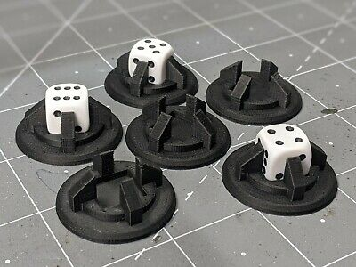 Wargames Objective Markers, Warhammer D6 Dice Holder. • 8£