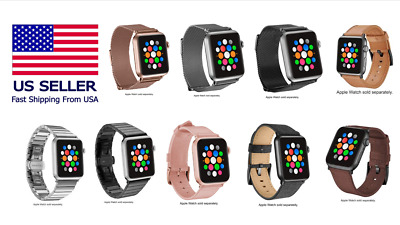 $ CDN140.75 • Buy Platinum Bands For Apple Watch® 38mm/40mm & 42mm/44mm, Series 5/4/3/2/1 FASTSHIP