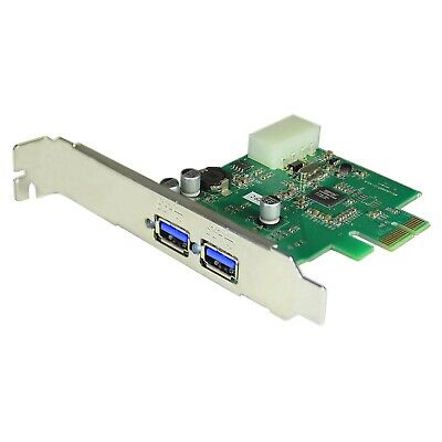 $9.99 • Buy J-Tech Digital PCI Express To USB 3.0 2-Port Expansion Card For Desktop/Computer
