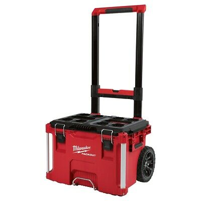 View Details Milwaukee 48-22-8426 PACKOUT Impact Resistant Rolling Modular Storage Tool Box • 129.00$