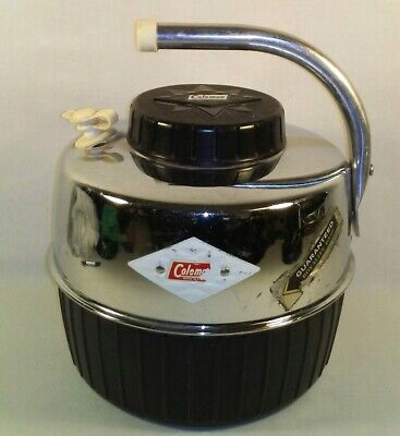 $100 • Buy Coleman 1-Gallon Water Jug Vtg Cooler Black Chrome Diamond Star Emblem Logo RARE
