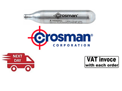 £14.99 • Buy 25 X Crosman 12g Co2 Gas Capsules 12 Gram CO2 - FREE NEXT DAY DELIVERY!