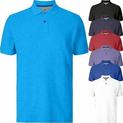 New Marks & Spencer Mens Pure Cotton Jersey Short Sleeve Polo Shirt Top S-3XL • 7.64£