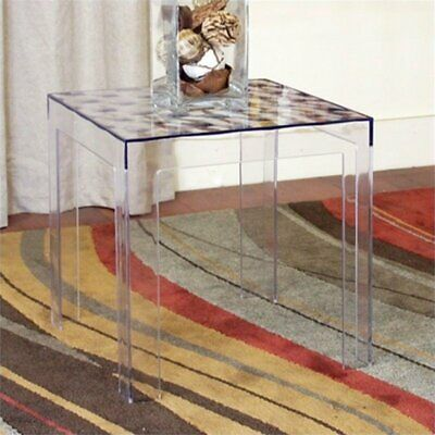 $83.08 • Buy Atlin Designs Square Acrylic End Table (Set Of 2)