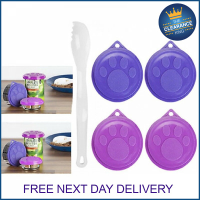 Dog Cat Pet Food Tin Cover Plastic Lids Can Caps Fresh Top Covers Storage  • 2.75£
