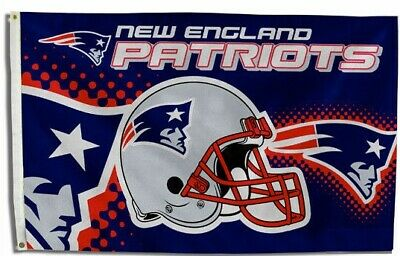 $13.89 • Buy New England Patriots Helmet Flag ~ Large 3'X5' ~ NFL Banner ~ FREE SHIPPING