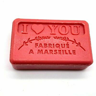 Savon De Marseille French Natural Soap I LOVE YOU 60g Vegetable   • 2.99£