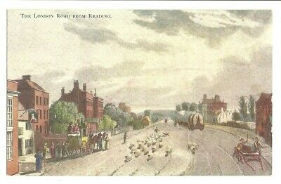 Postcard, The London Road From Reading, Berkshire • 1.75£