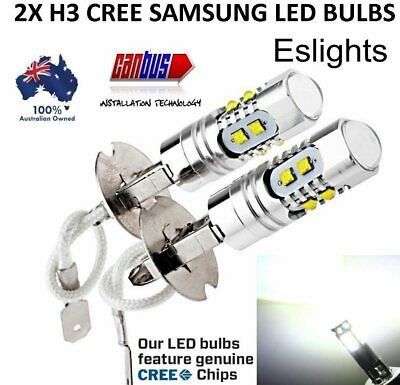 AU22.45 • Buy 2x H3 Fog Light Cree Led Xbd Headlight Driving Light Bulb Car Ute Lamp Globes