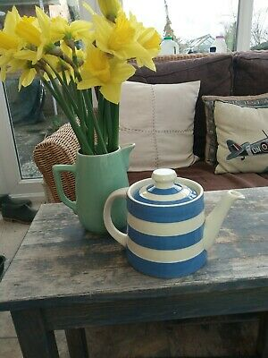 T G Green Cornishware Blue & White Teapot New Displayed Only • 35£