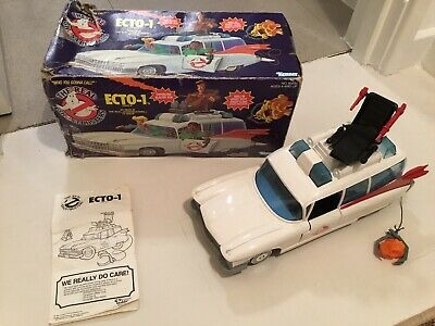 Ghostbusters Ecto 1 Vehicle With Box Rare Kenner 1984 Toy Car Vintage • 105£