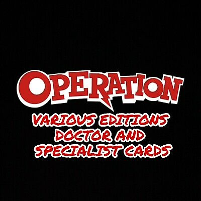 Operation -doctor/specialist Cards - Various Editions ..choose Your Card(s) • 1£