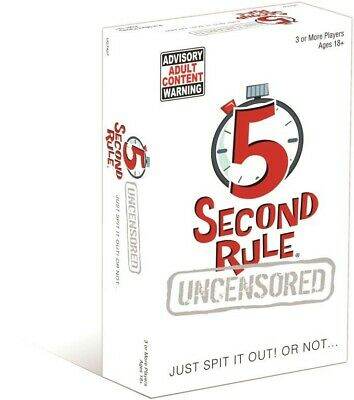 AU24.99 • Buy NEW 5 Second Rule Uncensored From Mr Toys