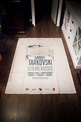 $489 • Buy TARKOVSKI FILM FESTIVAL 4x6 Ft French Grande Movie Poster Original 2017