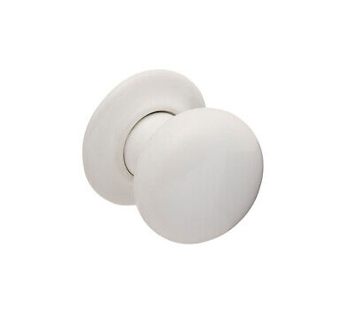White Ceramic Door Knobs On Concealed Rose • 6.95£