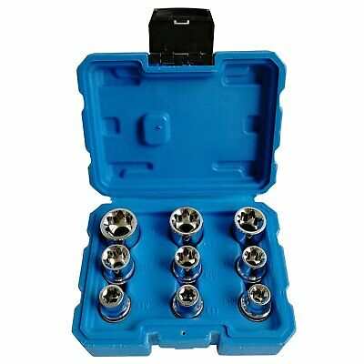 $16.71 • Buy 9 PC Deep E Torx Star Female Bit Socket Set 1/2  Drive E10 -E24