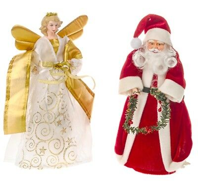Christmas Tree Topper Santa /  Fairy Angel Decoration Treetop Ornaments • 10.99£