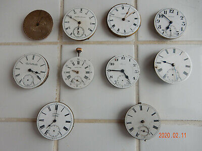 $ CDN79.99 • Buy Vintage Lot All  Brand And Size Parts Repair Pocket Watch Movement!!!