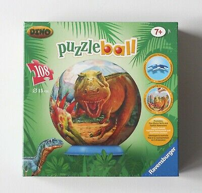 $12.99 • Buy NEW  Ravensburger Dino Puzzle Ball T-Rex Duniosaur 108 Pcs Ages 7+