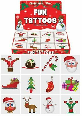 £0.99 • Buy 12 Christmas Temporary Tattoos - Stocking Toy Loot/Party Bag Fillers Children
