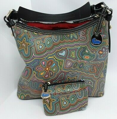 $150 • Buy Genuine Dooney And Bourke Colorful Marker Rainbow Zipper Lucy Bag Purse 1p633bb