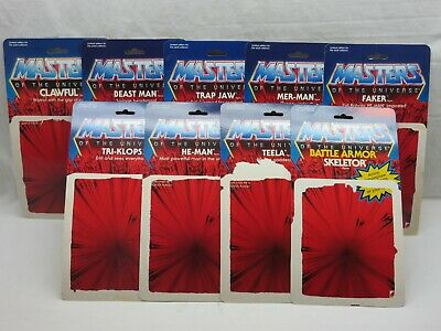 $95 • Buy MOTU,Commemorative Card Back Lot Of 9,Masters Of The Universe,Set,He Man