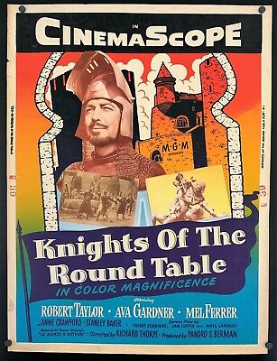 Original 1954 KNIGHTS OF THE ROUND TABLE 30 X 40 Movie Poster AVA GARDNER TAYLOR • 54.27£