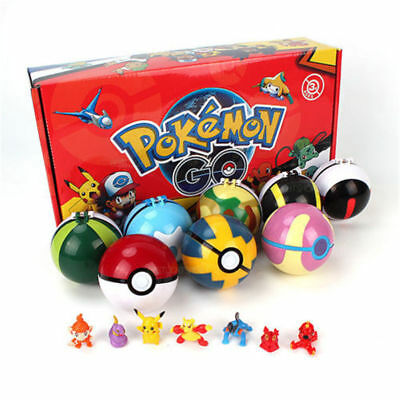 Kids 2.8'' 8Pcs Pokeball Pokeball Pokemon Action Figures Toys Xmas Gifts Games  • 12.89£