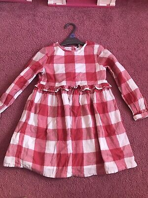 Girls Checked Red And White Dress Size 4-5 Years • 1.99£