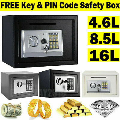 Electronic Password Security Safe Money Cash Deposit Box Home Office Safety Mini • 24.43£
