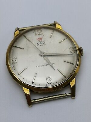 Working UNO (FHF Cal. 73) Gold Plated Mens Vintage Watch - Needs Attention AA45 • 39.99£
