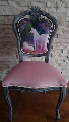 Shabby Chic French Style Carver Chair, Unicorn • 90£