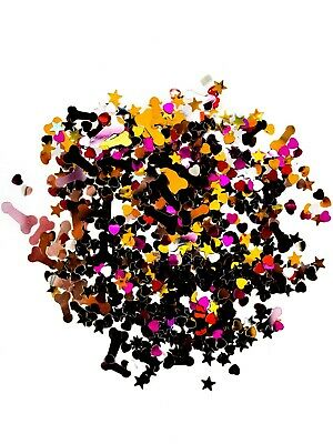 £1.45 • Buy Willy Hen Party Sprinkles Confetti Table Decoration Pink Silver Gold Star Heart
