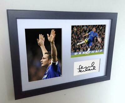 Signed Frank Lampard Chelsea Autographed Photo Photograph Picture Frame Print A4 • 25£