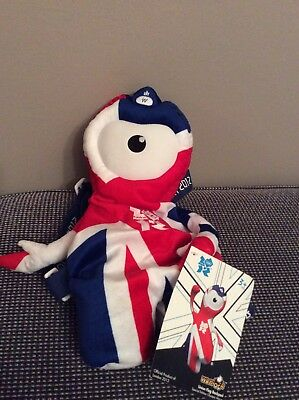 Official London 2012 Olympics: Wenlock Union Jack Backpack With Tag VGC • 2.50£