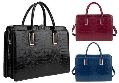 New Mock Croc LYDC Laptop Briefcase Bag Office Work Business Handbag College Bag • 29.90£
