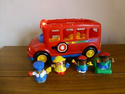 Mattel Fisher Price Little People Bus With Working Sounds & Music & Figures • 7.99£