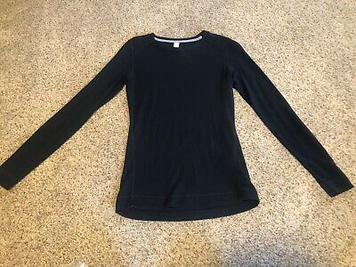 $45 • Buy Smartwool Black Crew Neck Base Layer Top 100% Merino Wool Womens M